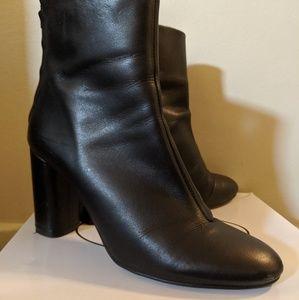 Asos Black Leather Booties 10 US